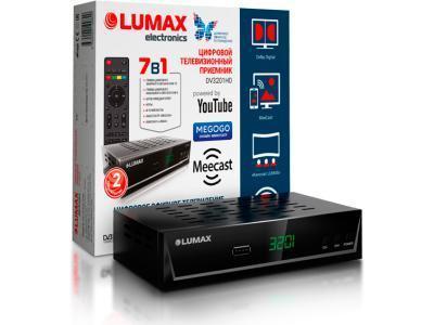 Спутниковое ТВ LUMAX DV3201HD черный