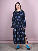 """Платье """"Лирика"""" Темно-синий, 46/50"""