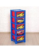 Комод Zabiaka Супер тачки 5364555 красный - синий