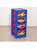 Комод Zabiaka Супер тачки 5364556 красный - синий