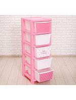 Комод ZABIAKA Принцесса 5364562 розовый