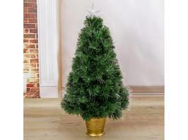 Новогодняя елка Зимнее волшебство Фиброоптическая 2338613 90 см