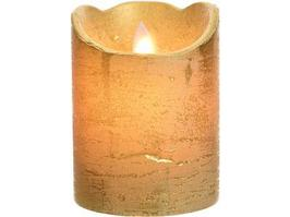 Новогодний декор Kaemingk LED мерцающая золотая рустическая 10 см