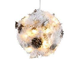 Новогодний декор Star Trading AB 661-53 Шар еловый с огнями и шишками 18 см