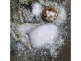 Новогодний декор Kaemingk Снег мелкий белый 200 г