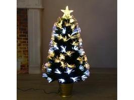 Новогодняя елка Зимнее волшебство Фиброоптика 2338604 90 см