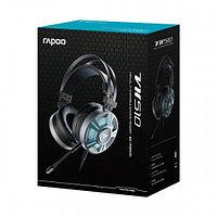 Rapoo Наушники, Rapoo, VH510, Тип крепления: Дуговые, Микрофон, USB, Длина кабеля 2.2м, Черный