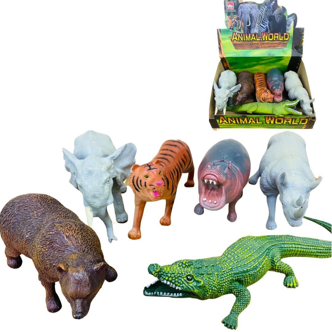 605S-2 Animal world Дикие животные африки 6шт, ЦЕНА ЗА 1ШТ 18*10см