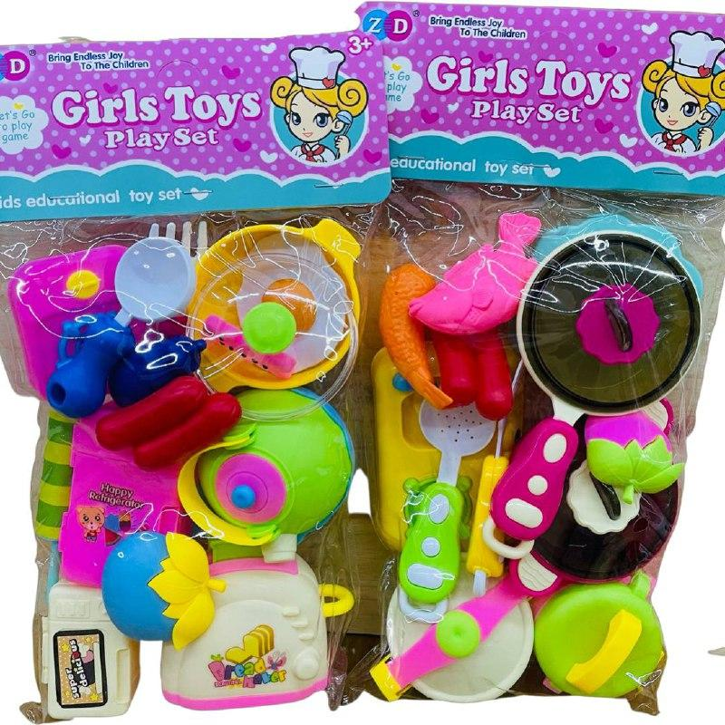 892-318 ABC Cirls toys кухня в пакете 31*17см