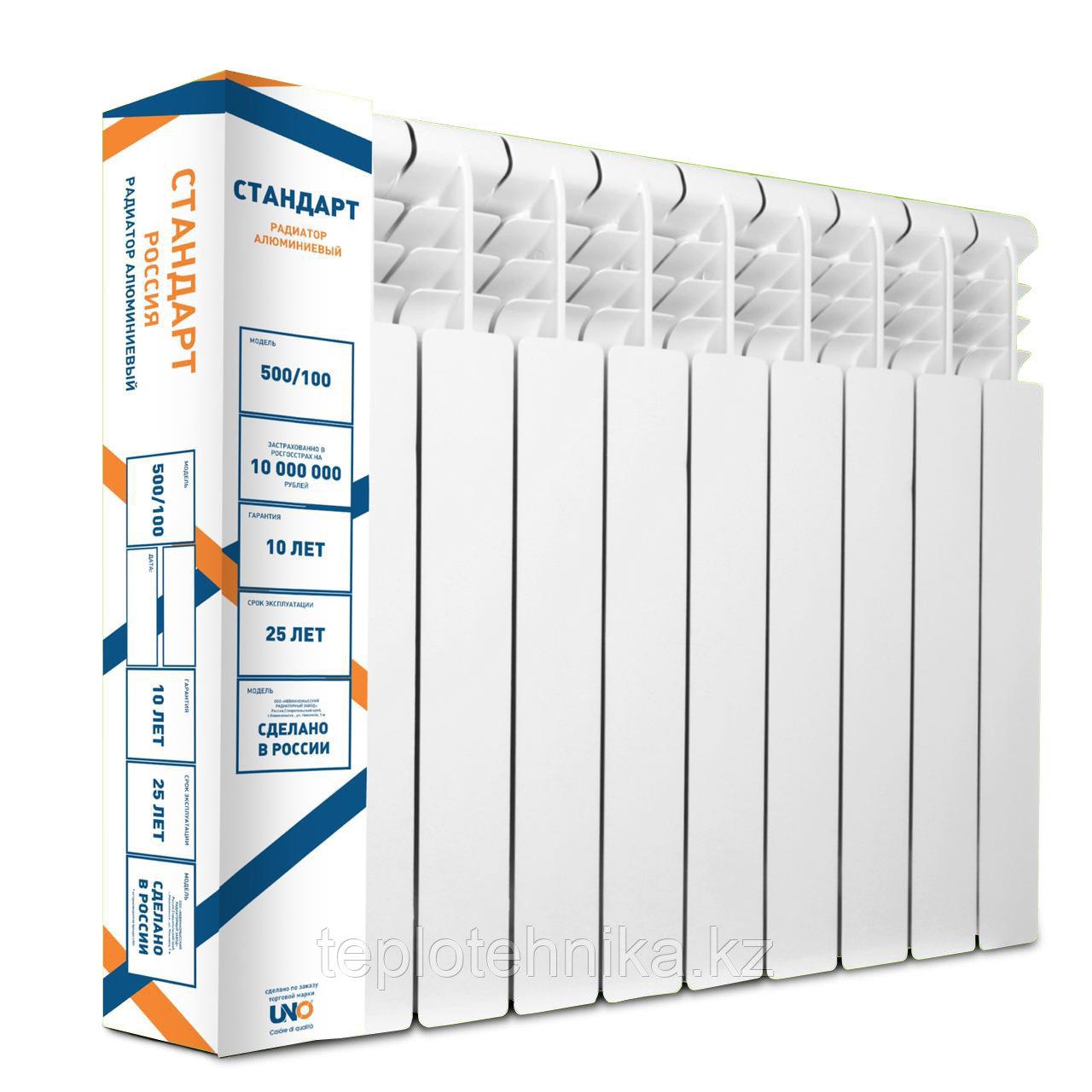 Алюминиевый радиатор СТАНДАРТ 500/100  (Россия)