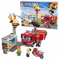 Конструктор Пожар в Бургер-кафе, LARI 11213 аналог LEGO City 60214