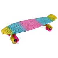 "Penny board (пенни борд) Tech Team Multicolor 22"" 2021 yellow/blue/pink"