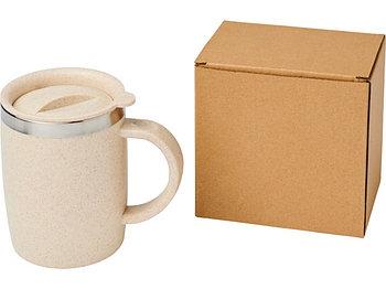 Чашка из пшеничной соломы Wey 400 мл с изоляцией, натуральный