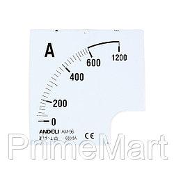 Шкала для амперметра ANDELI 100/5