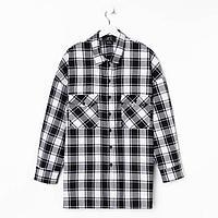Рубашка женская MIST plus-size, one size, черный/белый