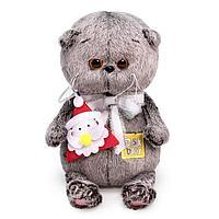 Мягкая игрушка 'Басик Baby с игрушкой Дед Мороз', 20 см BB-068