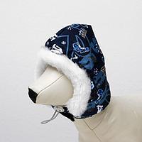 Шапочка зимняя 'Эскимос', M-L, плащевка-мех, объем морды 29 см, длина шапки 23 см микс
