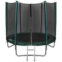 Батут ONLITOP, d=244 см, с лестницей, с сеткой высотой 173 см, цвет зелёный
