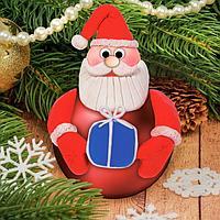 Новогодний ёлочный шар с массой для лепки 'Дед Мороз'