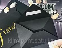 Конверты с золотым фольгированием под заказ