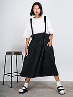 Хлопковая юбка-сарафан на бретельках