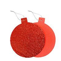 Основа для творчества - ёлочное украшение 'Шар' набор 6 шт., размер 1 шт 15,5x14см, цвет красный