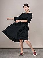 Широкое платье из хлопка с двумя карманами