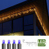 Гирлянда дождь 4х0,4м голубая кабель черный 10м 144диода LED outdoor
