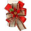 Декор Бант для подарков красный d12см Ps