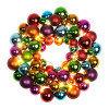 Венок d40см декорация из елочных шаров разноцветный