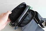 Мужская барсетка, сумка через плечо из натуральной кожи HT, фото 7