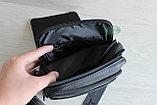 Мужская барсетка, сумка через плечо из натуральной кожи HT, фото 8