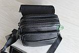 Мужская барсетка, сумка через плечо из натуральной кожи HT, фото 5