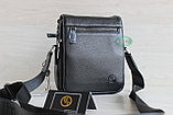 Мужская барсетка, сумка через плечо из натуральной кожи HT, фото 2