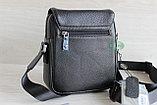 Мужская барсетка, сумка через плечо из натуральной кожи HT, фото 4