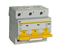 Выключатель автоматический модульный 3п C 100А 10кА ВА47-100 MVA40-3-100-C IEK