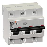 Выключатель автоматический модульный 3п C 100А 10кА ВА47-100-3С100-УХЛ3 141630 КЭАЗ
