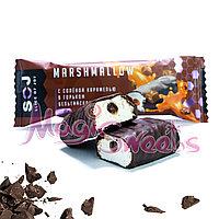 """SOJ Батончик """"MARSHMALLOW"""" с соленой карамелью в темном шоколаде 30 гр./ Упаковка 10 шт., фото 1"""