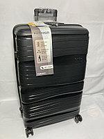 """Большой пластиковый дорожный чемодан """"Fashion"""" на 4-х колесах. Высота 74 см, ширина 46 см, глубина 28 см., фото 1"""