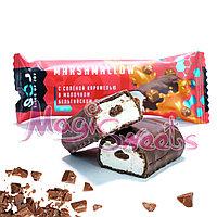 "SOJ Батончик ""MARSHMALLOW"" с соленой карамелью в молочном шоколаде 30 гр./ Упаковка 10 шт."