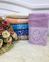 Лицевое полотенце с узором 50*90, фото 2