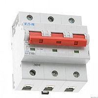 Выключатель автоматический модульный 3п C 100А 20кА PLHT-C100/3 EATON 248040