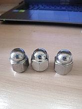 Гайка колесная М12 х 1.25, под ключ 21 мм, закрытая для литого диска, ХРОМ, короткая