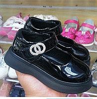 Туфли черные для девочек с 27 по 32 размеры