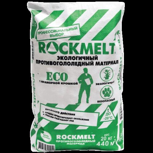 Противогололедный реагент c мраморной крошкой Rockmelt ECO 20 кг
