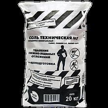 Противогололедный реагент Rockmelt Соль техническая №3 20 кг