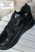 Черные кроссы ботильоны Fashion