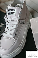 Белые кроссы до щиколотки