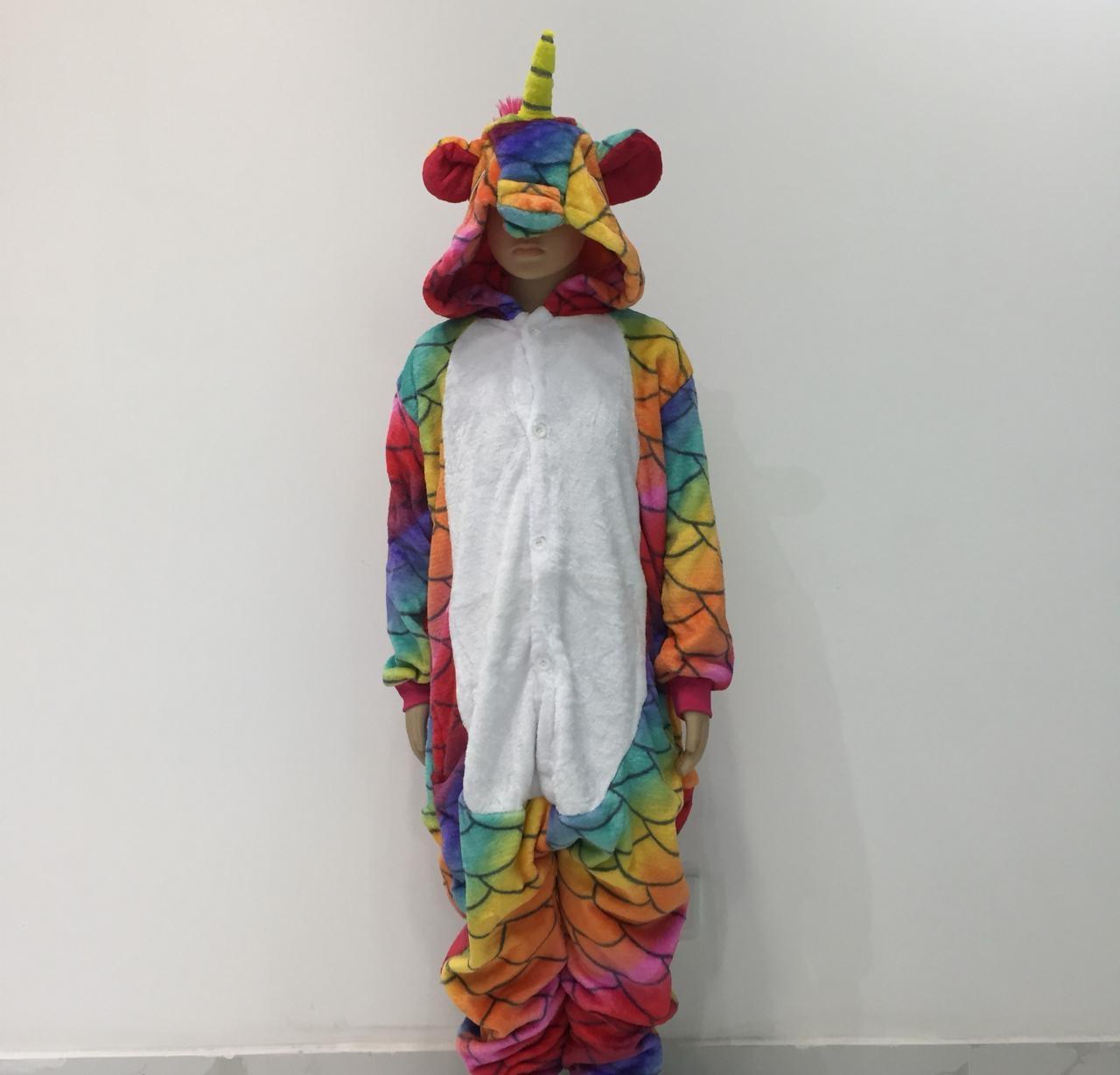 Пижама кигуруми единорог с чешуйками