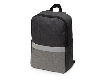 Рюкзак Merit со светоотражающей полосой и отделением для ноутбука 15.6'', серый
